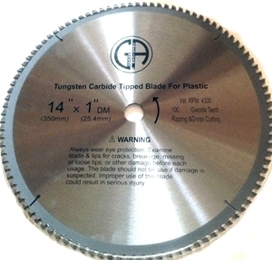 """Picture of TCP27 14"""" 100T Carbide Saw Blade for PLASTIC"""