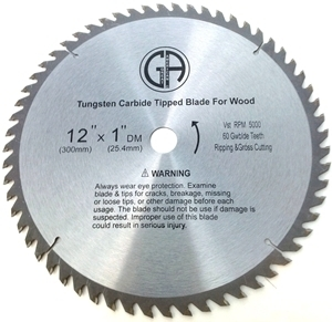 "Picture of TC206 12"" 60 Tooth"