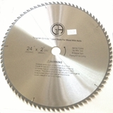 Saw Blade – 24in Carbide Tipped 60 tooth  for Wood and Wood with Nails