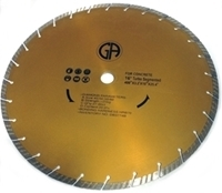 """Picture of DB3774B  16IN Turbo segmented saw blade for CONCRETE 1"""" Arbor"""