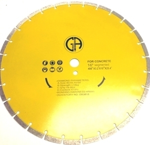 Picture of DB3818  16IN Segmented Sintered saw blade for CONCRETE