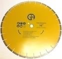 "Picture of DW84  16IN Silver Brazed Segmented Saw Blade for for GRANITE. ""Sandwiched"" Blade for ""Quieter"" Cutting"