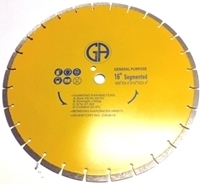 Picture of DB3819  16IN Segmented sintered saw blade for GENERAL PURPOSE