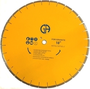 Picture of DW85  18IN Silver Brazed Segmented Saw Blade for GRANITE