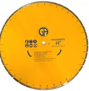 Picture of DW114  22IN Silver Brazed Saw Blade for CONCRETE