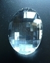 Picture of P881A 38mm Crystal Oval Pendant 1 hole
