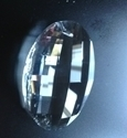 Picture of P881B 50mm Crystal Oval Pendant 1 hole