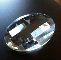 Picture of P881C 63mm Crystal Oval Pendant 1 hole