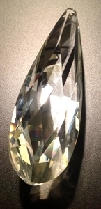 Picture of P883B 85mm Faceted crystal drop with top hole mount
