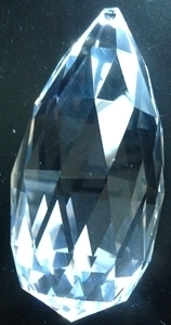 Picture of P888C 89mm Faceted crystal drop with top hole mount