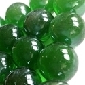 Picture of M56  16MM Light green cathedral shiny glass marbles