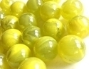 Picture of M55  16MM Transparent Clear With Yellow Swirls Shiny Glass Marbles