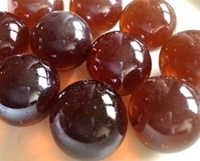 Picture of M240 25MM Shiny Amber Glass Marbles