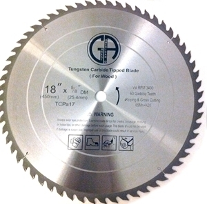 Picture of TCP17  18-in. 60 Tooth - Tungsten Carbide Tipped Saw Blade for WOOD