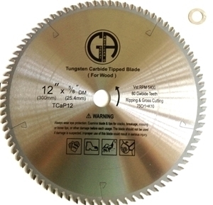 """Picture of TC12P 12"""" 80 Tooth Carbide Tipped Professional Saw Blade"""