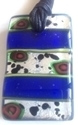Picture of GP10 Hand Made Murano Fused Glass Jewelry Rectangle