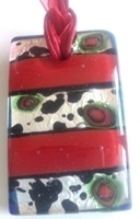 Picture of GP13 Hand Made Murano Fused Glass Jewerly-Rectangle