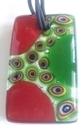 Picture of GP14 Hand Made Murano Fused Glass Jewerly-Rectangle