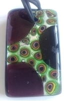 Picture of GP15 Hand Made Murano Fused Glass Jewerly-Rectangle