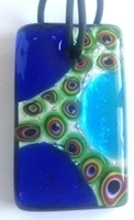 Picture of GP16 Hand Made Murano Fused Glass Jewerly-Rectangle