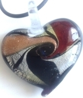 Picture of GP19 Hand Made Murano Fused Glass Jewerly Heart