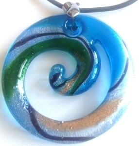Picture of GP23-2 Hand Made Murano Fused Glass Jewerly