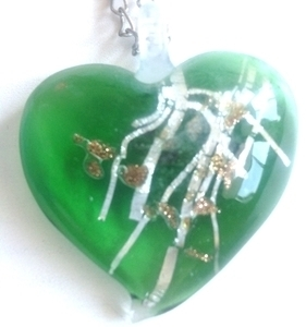 Picture of GP30 Hand Made Murano Fused Glass Jewerly-Heart