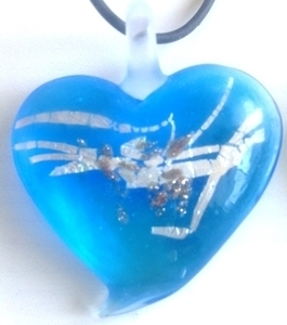 Picture of GP32 Hand Made Murano Fused Glass Jewerly-Heart