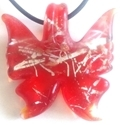 Picture of GP34 Hand Made Murano Fused Glass Jewerly-Butterfly