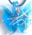 Picture of GP35 Hand Made Murano Fused Glass Jewerly-Butterfly
