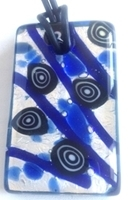 Picture of GP41 Hand Made Murano Fused Glass Jewerly-Rectangle
