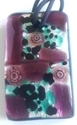 Picture of GP43 Hand Made Murano Fused Glass Jewerly-Rectangle