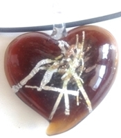 Picture of GP29 Hand Made Murano Fused Glass Jewerly-Heart