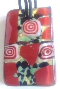 Picture of GP44 Hand Made Murano Fused Glass Jewerly Rectangle
