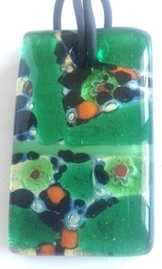 Picture of GP46 Hand Made Murano Fused Glass Jewerly-Rectangle