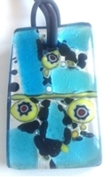 Picture of GP47 Hand Made Murano Fused Glass Jewerly-Rectangle