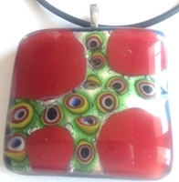 Picture of GP51 Hand Made Murano Fused Glass Jewerly-Square