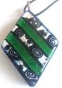 Picture of GP52 Hand Made Murano Fused Glass Jewerly-Triangle