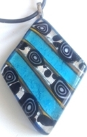 Picture of GP55 Hand Made Murano Fused Glass Jewerly-Triangle