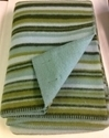 "Picture of WB1 Wool Blanket 100% New Zealand Wool Green 50"" x 80"" Kilppan Saule Made in Latvia"