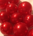 Picture of BDXRED 16MM & 12MM Plastic Beads RED 2 Cups XMAS SPECIAL