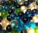 "Picture of MN01 9/16"" Multi-Colored Transparent Marbles"