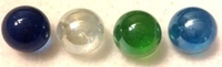 """Picture of MN01 9/16"""" Multi-Colored Transparent Marbles"""