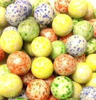 Picture of MN09 14MM White rolled in various colored glass marbles