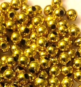 Picture of BD5RM3  5mm METALLIC GOLD round plastic beads