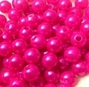 Picture of BD8R4C  8mm HOT PINK round plastic beads