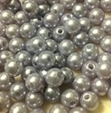 Picture of BD8R12A  8mm LIGHT GRAY round plastic beads