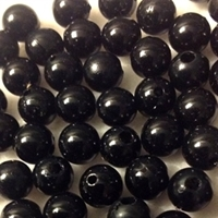 Picture of BD8R14  8mm BLACK round plastic beads