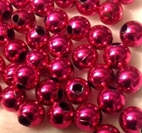 Picture of BD8RM4C  8mm METALLIC HOT PINK round plastic beads