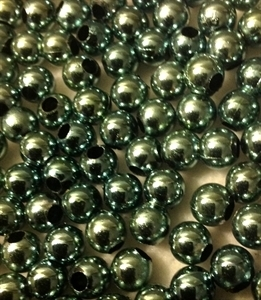 Picture of BD8RM7  8mm METALLICBLUE round plastic beads